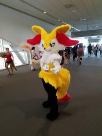 Braixen from Pokemon worn by Oshi