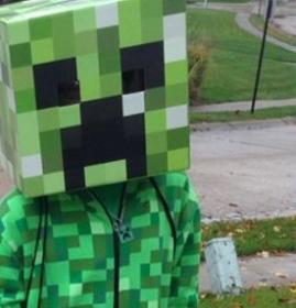 Creeper from Minecraft worn by Spindaboy