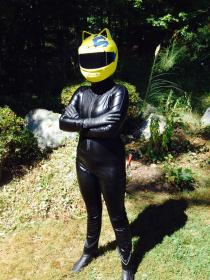 Celty Sturluson from Durarara!! worn by Lily Cooke