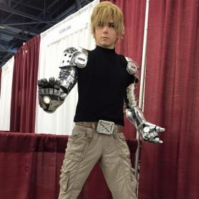 Genos from One Punch Man worn by Moderately Okay Cosplay