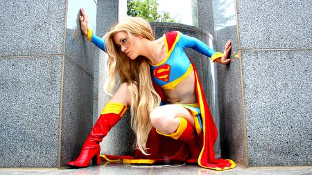 Supergirl photographed by