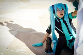 Vocaloid photographed by